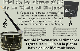 "La ""Colla el Ginjoler"" inicia les classes per a este 2019"